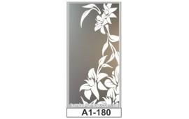 Пескоструйный рисунок А1-180 на одну дверь шкафа-купе. Цветы