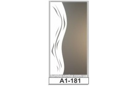 Пескоструйный рисунок А1-181 на одну дверь шкафа-купе. Узор