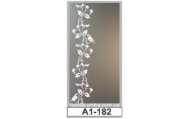 Пескоструйный рисунок А1-182 на одну дверь шкафа-купе. Узор