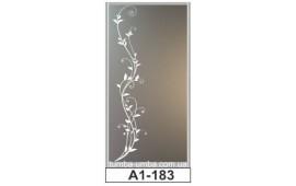 Пескоструйный рисунок А1-183 на одну дверь шкафа-купе. Узор