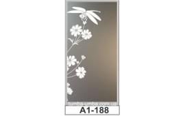 Пескоструйный рисунок А1-188 на одну дверь шкафа-купе. Цветы