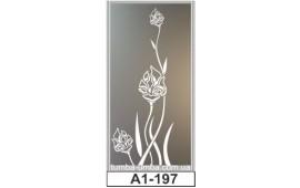 Пескоструйный рисунок А1-197 на одну дверь шкафа-купе. Цветы