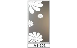 Пескоструйный рисунок А1-203 на одну дверь шкафа-купе. Цветы