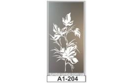 Пескоструйный рисунок А1-204 на одну дверь шкафа-купе. Цветы