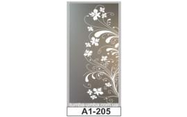 Пескоструйный рисунок А1-205 на одну дверь шкафа-купе. Цветы
