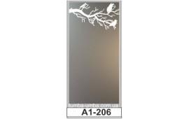 Пескоструйный рисунок А1-206 на одну дверь шкафа-купе. Узор