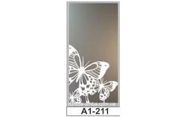 Пескоструйный рисунок А1-211 на одну дверь шкафа-купе. Бабочки