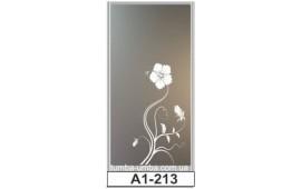 Пескоструйный рисунок А1-213 на одну дверь шкафа-купе. Цветы