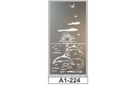 Пескоструйный рисунок А1-224 на одну дверь шкафа-купе. Природа