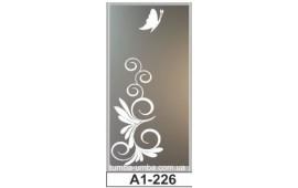 Пескоструйный рисунок А1-226 на одну дверь шкафа-купе. Бабочка