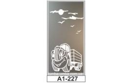 Пескоструйный рисунок А1-227 на одну дверь шкафа-купе. Детское