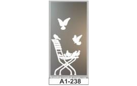 Пескоструйный рисунок А1-238 на одну дверь шкафа-купе. Птицы