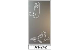 Пескоструйный рисунок А1-242 на одну дверь шкафа-купе. Кот