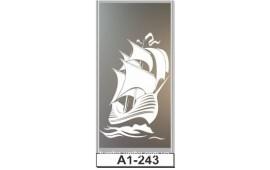 Пескоструйный рисунок А1-243 на одну дверь шкафа-купе. Корабль