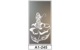 Пескоструйный рисунок А1-245 на одну дверь шкафа-купе. Цветок
