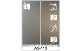 Пескоструйный рисунок А2-113 на две двери шкафа-купе. Узор