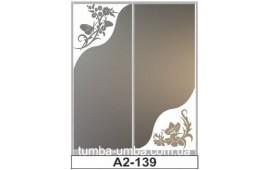 Пескоструйный рисунок А2-139 на две двери шкафа-купе. Цветы