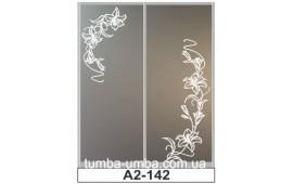 Пескоструйный рисунок А2-142 на две двери шкафа-купе. Цветы