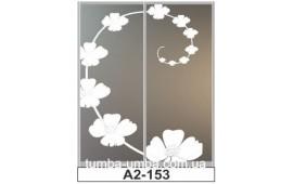 Пескоструйный рисунок А2-153 на две двери шкафа-купе. Цветы