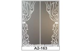 Пескоструйный рисунок А2-163 на две двери шкафа-купе