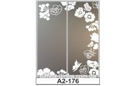 Пескоструйный рисунок А2-176 на две двери шкафа-купе. Бабочки
