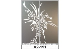 Пескоструйный рисунок А2-191 на две двери шкафа-купе. Цветы