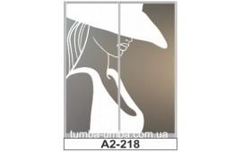 Пескоструйный рисунок А2-218 на две двери шкафа-купе. Девушка