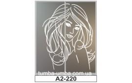 Пескоструйный рисунок А2-220 на две двери шкафа-купе. Девушка
