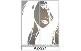 Пескоструйный рисунок А2-221 на две двери шкафа-купе. Девушка
