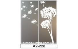 Пескоструйный рисунок А2-223 на две двери шкафа-купе. Одуванчики