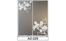 Пескоструйный рисунок А2-229 на две двери шкафа-купе. Цветы