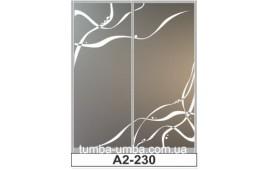 Пескоструйный рисунок А2-230 на две двери шкафа-купе. Узор