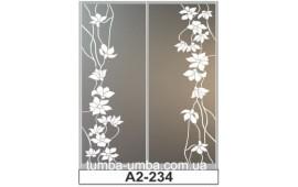 Пескоструйный рисунок А2-234 на две двери шкафа-купе. Цветы