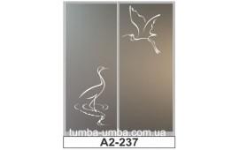 Пескоструйный рисунок А2-237 на две двери шкафа-купе. Птицы