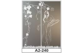 Пескоструйный рисунок А2-240 на две двери шкафа-купе. Девушка