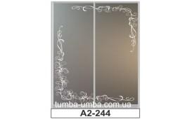 Пескоструйный рисунок А2-244 на две двери шкафа-купе. Узор