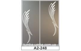 Пескоструйный рисунок А2-248 на две двери шкафа-купе. Узор