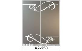 Пескоструйный рисунок А2-250 на две двери шкафа-купе. Узор