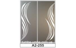 Пескоструйный рисунок А2-255 на две двери шкафа-купе. Узор