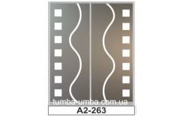 Пескоструйный рисунок А2-263 на две двери шкафа-купе. Узор