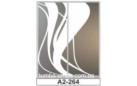 Пескоструйный рисунок А2-264 на две двери шкафа-купе. Узор
