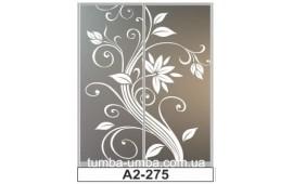 Пескоструйный рисунок А2-275 на две двери шкафа-купе. Цветы