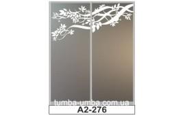 Пескоструйный рисунок А2-276 на две двери шкафа-купе. Цветы