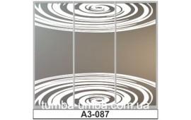Пескоструйный рисунок А3-087 на три двери шкафа-купе. Узор