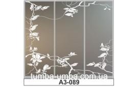 Пескоструйный рисунок А3-089 на три двери шкафа-купе. Цветы