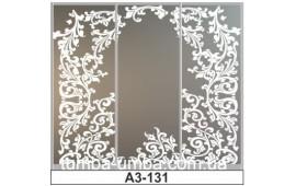 Пескоструйный рисунок А3-131 на три двери шкафа-купе. Узор