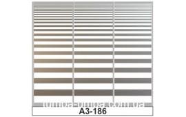 Пескоструйный рисунок А3-1786 на три двери шкафа-купе. Узор