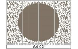 Пескоструйный рисунок А4-021 на четыре двери шкафа-купе. Узор