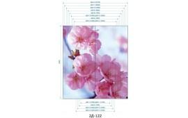 Фотопечать 2Д-122 для шкафа-купе на две двери. Цветы