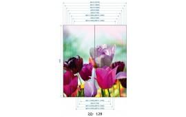 Фотопечать 2Д-128 для шкафа-купе на две двери. Цветы